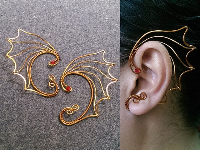 Dragon Wings Earcuff Wire Wrapping Jewelry Tutorial 244 Lananh