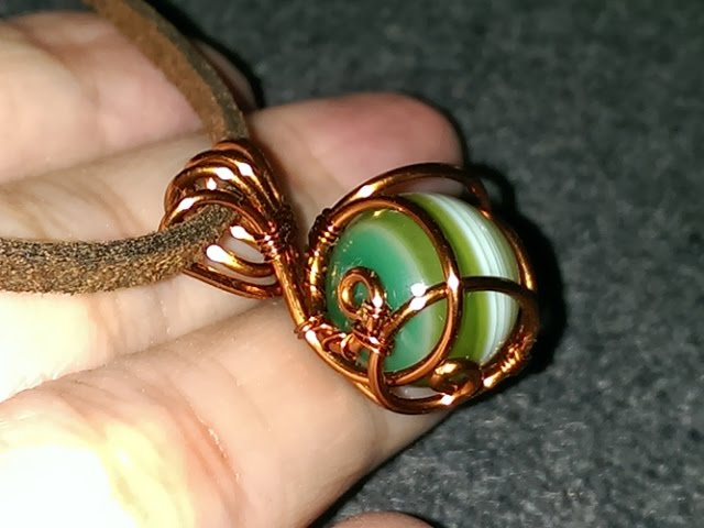 How To Make Wire Jewelry Wire Wrapped Spherical Stone Pendants